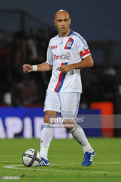 Cristiano Marques Gomes of Olympique Lyonnais in action during the Ligue 1 match between Olympique Lyonnais and AS Monaco FC at Gerland Stadium on...