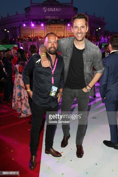 Cristiano Mazza Tod's and Alexander Mazza during the Life Ball 2018 at City Hall on June 2 2018 in Vienna Austria The Life Ball an annual charity...