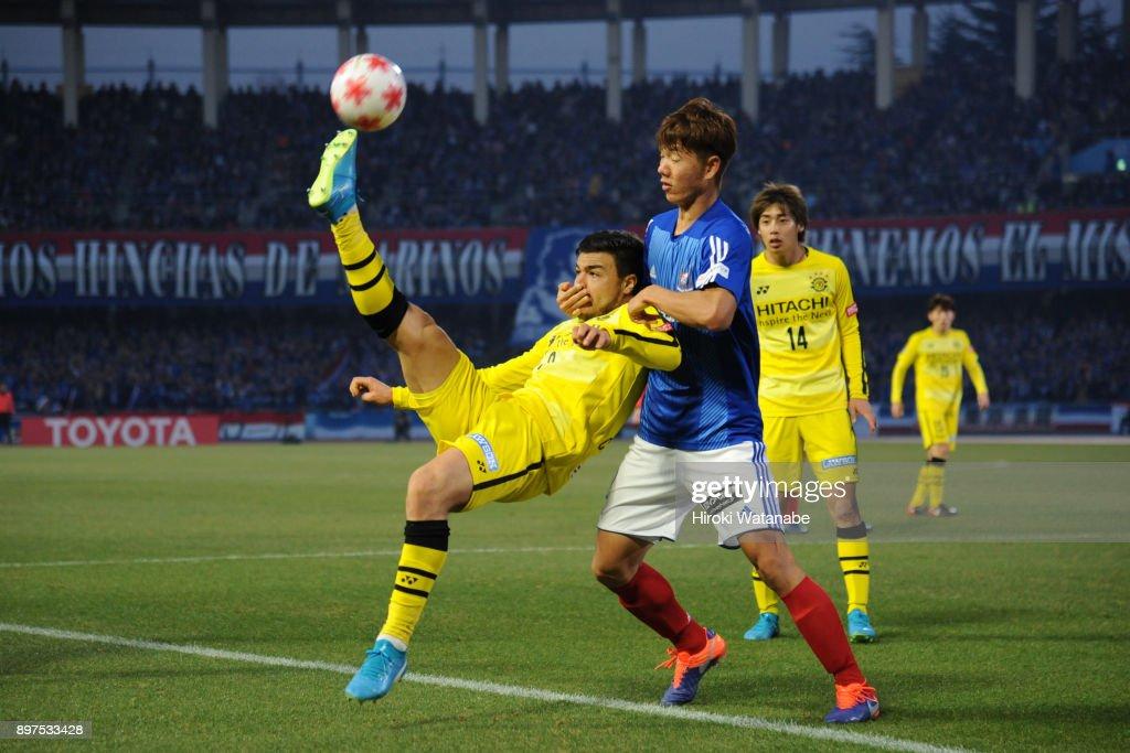 Cristiano of Kashiwa Reysol in action during the 97th Emperor's Cup semi final match between Yokohama F.Marinos and Kashiwa Reysol at Todoroki Stadium on December 23, 2017 in Kawasaki, Kanagawa, Japan.
