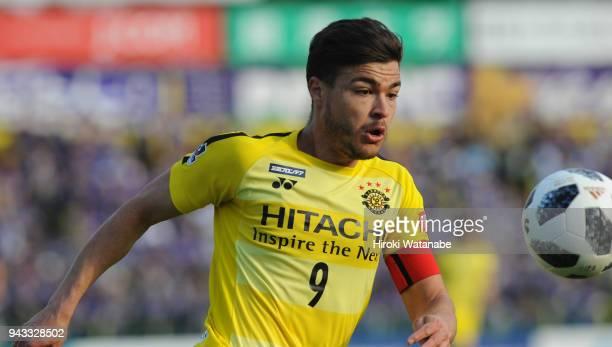 Cristiano of Kashiwa Reysol in action during the JLeague J1 match between Kashiwa Reysol and Sanfrecce Hiroshima at Sankyo Frontier Kashiwa Stadium...