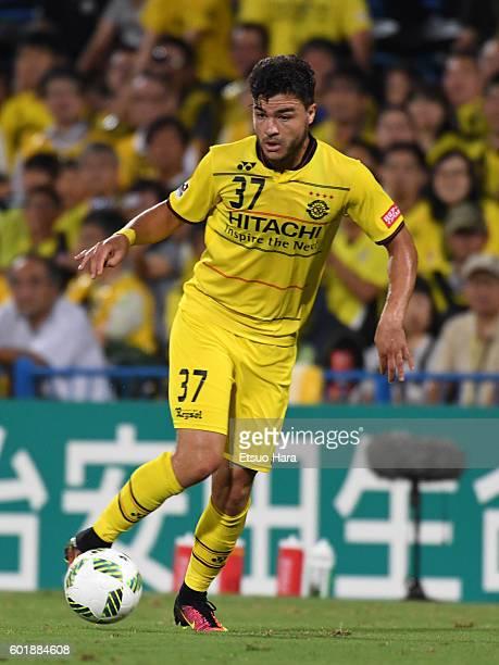 Cristiano of Kashiwa Reysol in action during the JLeague match between Kashiwa Reysol and Kashima Antlers at the Hitachi Kashiwa Soccer Stadium on...