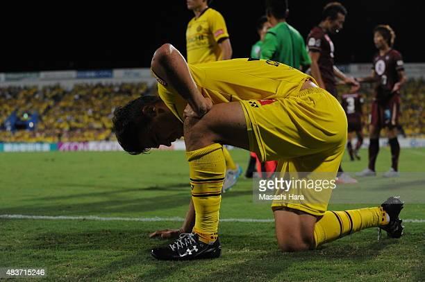 Cristiano of Kashiwa Reysol looks on during the JLeague match between Kashiwa Reysol and Vissel Kobe at Hitachi Kashiwa Soccer Stadium on August 12...