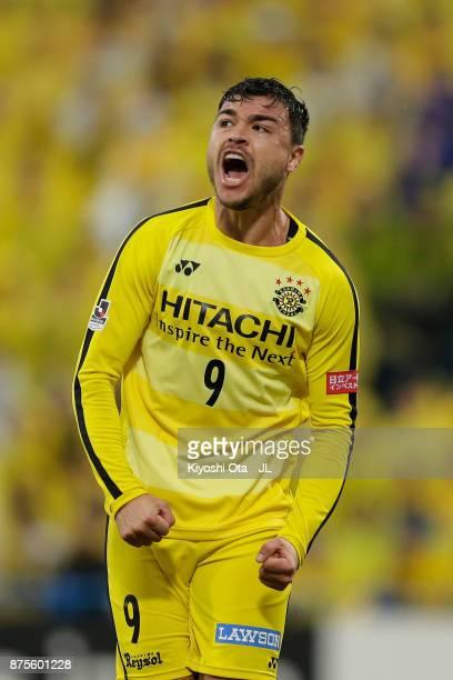 Cristiano of Kashiwa Reysol reacts during the JLeague J1 match between Kashiwa Reysol and Jubilo Iwata at Hitachi Kashiwa Soccer Stadium on November...