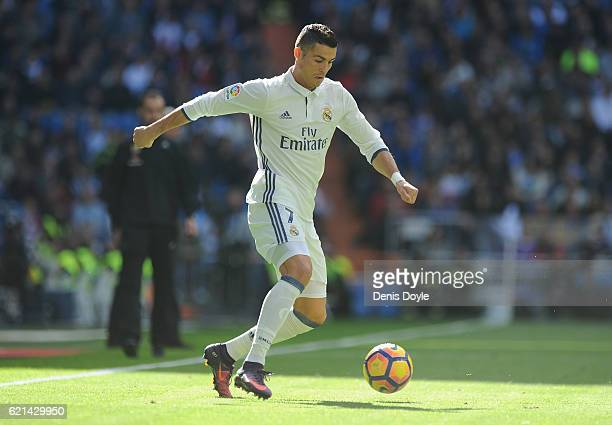 Cristiano Roanldo of Real Madrid in action during the Liga match between Real Madrid CF and Leganes on November 6 2016 in Madrid Spain