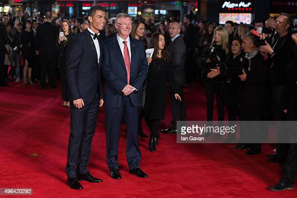 Cristiano Ronaldo and Alex Ferguson attend the World Premiere of 'Ronaldo' at Vue West End on November 9 2015 in London England