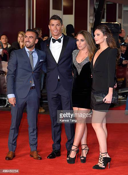 Cristiano Ronaldo and Chloe Green attend the World Premiere of 'Ronaldo' at Vue West End on November 9 2015 in London England