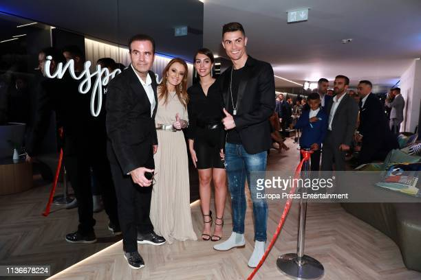 Cristiano Ronaldo and Georgina Rodriguez attend 'Isparya' inauguration on March 18 2019 in Madrid Spain