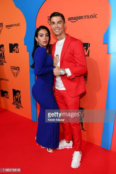 Cristiano Ronaldo and Georgina Rodriguez attend the MTV EMAs 2019 at FIBES Conference and Exhibition Centre on November 03, 2019 in Seville, Spain.