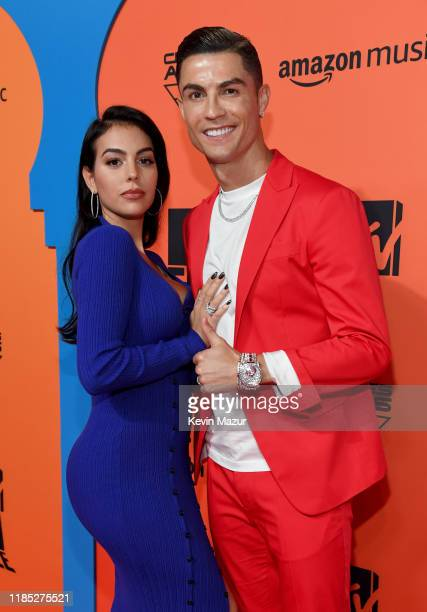 Cristiano Ronaldo and Georgina Rodriguez attend the MTV EMAs 2019 at FIBES Conference and Exhibition Centre on November 03 2019 in Seville Spain