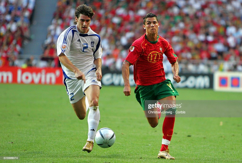 Soccer - UEFA Euro 2004 - Final - Portugal vs. Greece : News Photo