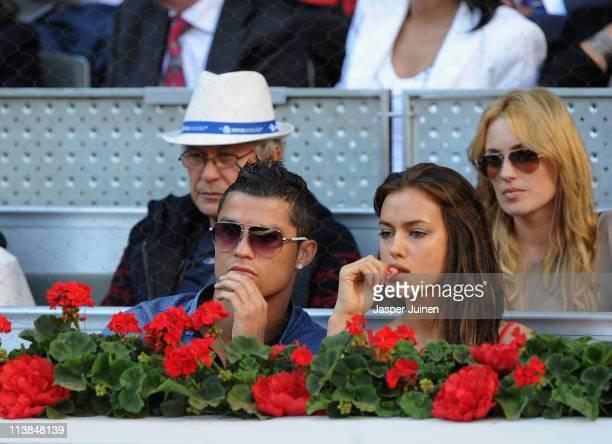 Cristiano Ronaldo and girlfriend Irina Shayk during the final match of the Mutua Madrilena Madrid Open Tennis on May 8 2011 in Madrid Spain