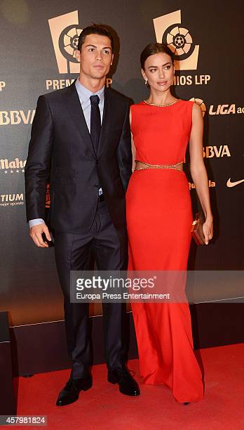 Cristiano Ronaldo and Irina Shayk attend the LFP Awards Gala 2014 on October 27 2014 in Madrid Spain