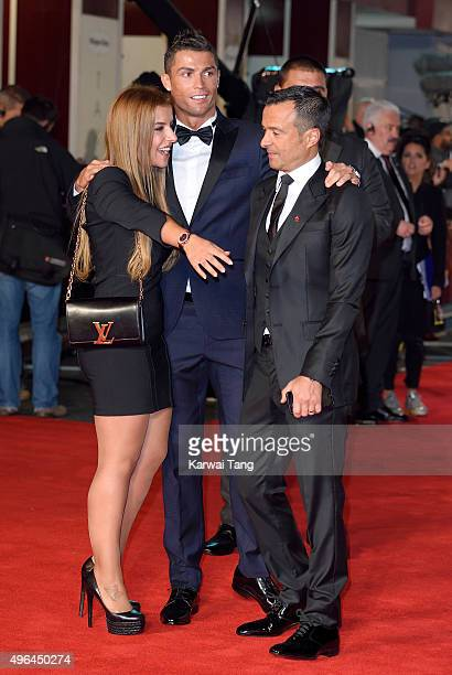 Cristiano Ronaldo and Jorge Mendes attend the World Premiere of 'Ronaldo' at Vue West End on November 9 2015 in London England