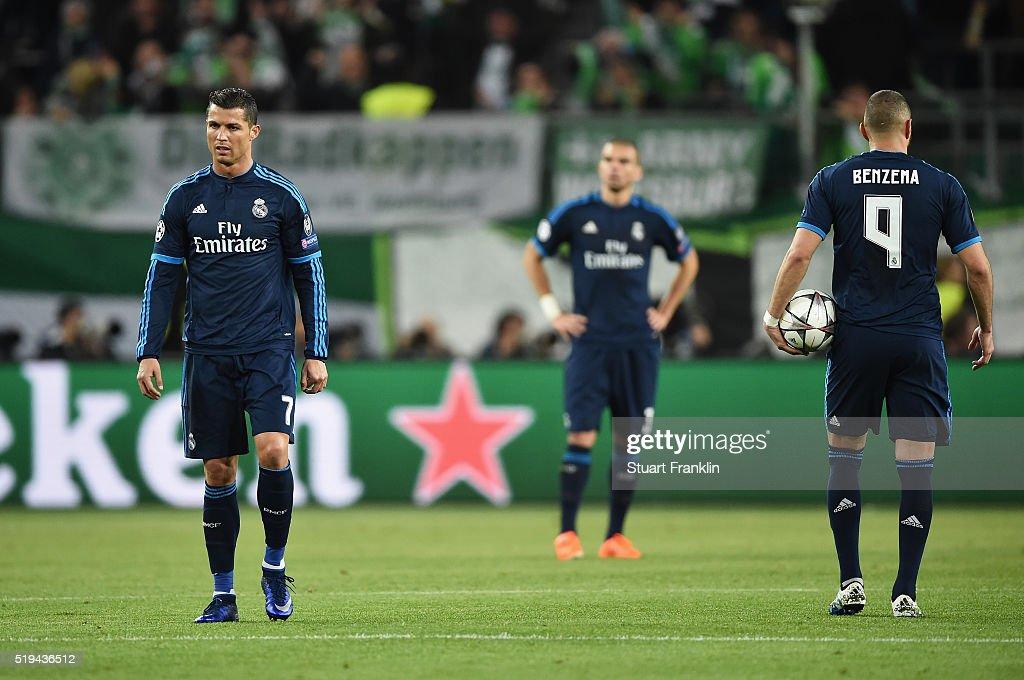 VfL Wolfsburg v Real Madrid CF - UEFA Champions League Quarter Final: First Leg : News Photo