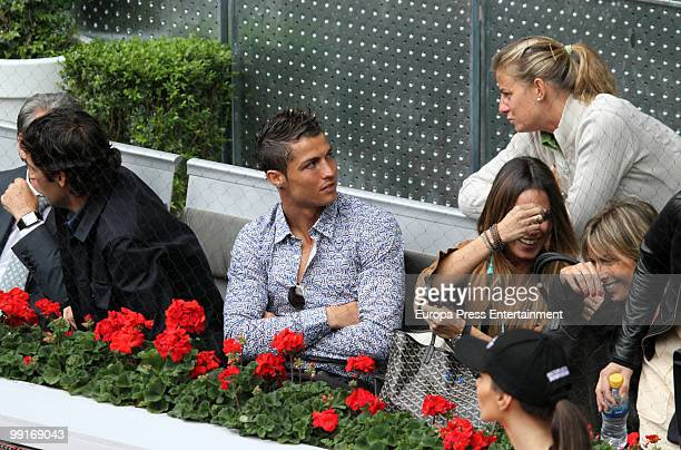 Cristiano Ronaldo and Raul Gonzalez attend the Mutua Madrilena Madrid Open on May 12 2010 in Madrid Spain