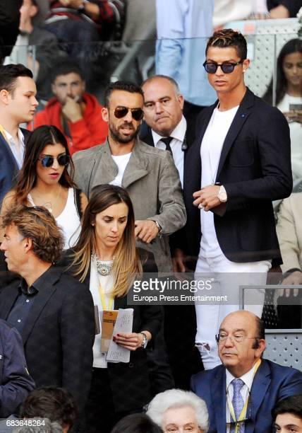 Cristiano Ronaldo and Ricardo Regufe attend Mutua Madrid Open tennis at La Caja Magica on May 13 2017 in Madrid Spain