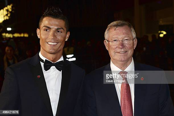 Cristiano Ronaldo and Sir Alex Ferguson attend the World Premiere of 'Ronaldo' at Vue West End on November 9 2015 in London England