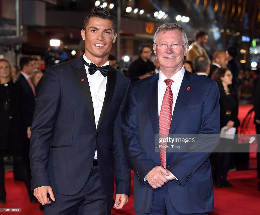 Cristiano Ronaldo and Sir Alex Ferguson attend the World Premiere of 'Ronaldo' at Vue West End on November 9, 2015 in London, England.