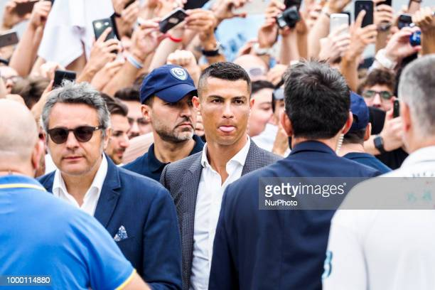 Cristiano Ronaldo arrives at Juventus medical center in Turin Italy on July 16 2018