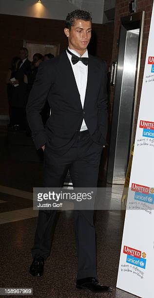 Cristiano Ronaldo Arrives At Manchester United Football Club'S 'United For Unicef' Gala Dinner Held At Old Trafford Manchester