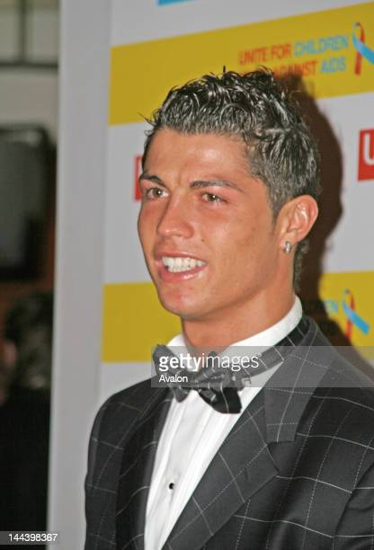 Cristiano Ronaldo arrives at the annual United for Unicef charity dinner at Old Trafford on the 13th December 2006 Manchester England United for...