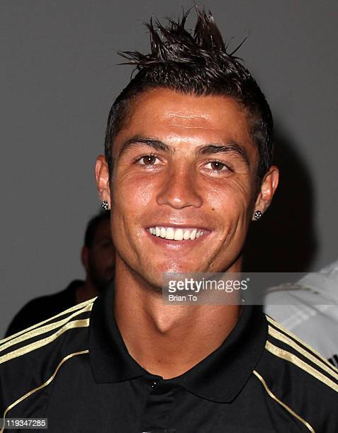 Cristiano Ronaldo attends 2010 World Cup winning Spanish soccer team Real Madrid meet greet reception at SLS Hotel on July 18 2011 in Beverly Hills...