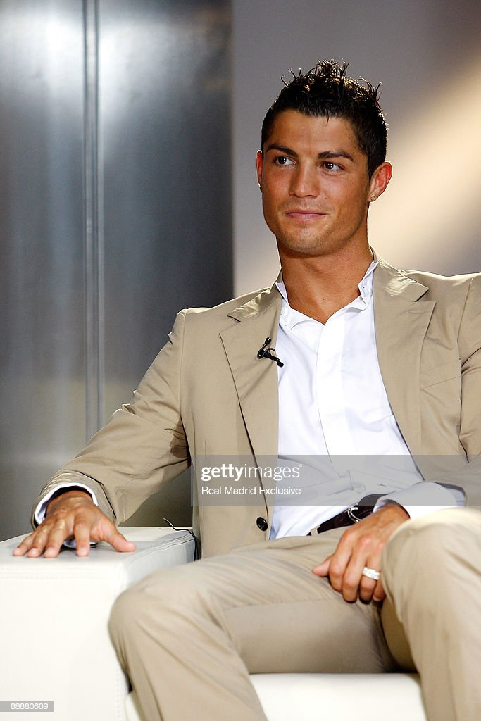 Cristiano Ronaldo attends an interview for Real Madrid TV at Estadio Santiago Bernabeu on July 6, 2009 in Madrid, Spain.