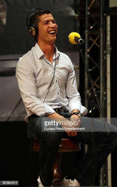 Cristiano Ronaldo attends 'El Larguero' radio broadcast on October 26 2009 in Madrid Spain
