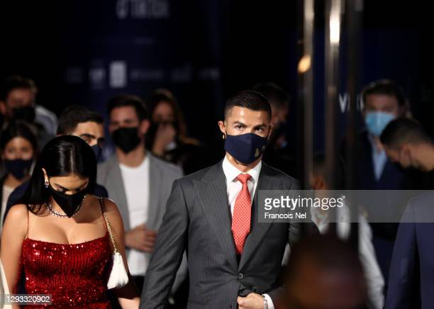 Cristiano Ronaldo attends the Dubai Globe Soccer Awards at Armani Hotel Dubai on December 27, 2020 in Dubai, United Arab Emirates.
