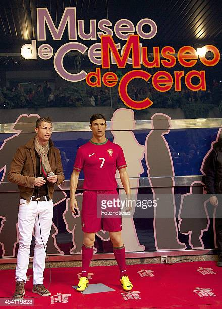Cristiano Ronaldo attends the unveiling of his wax figure at the Museo de Cera on December 7 2013 in Madrid Spain