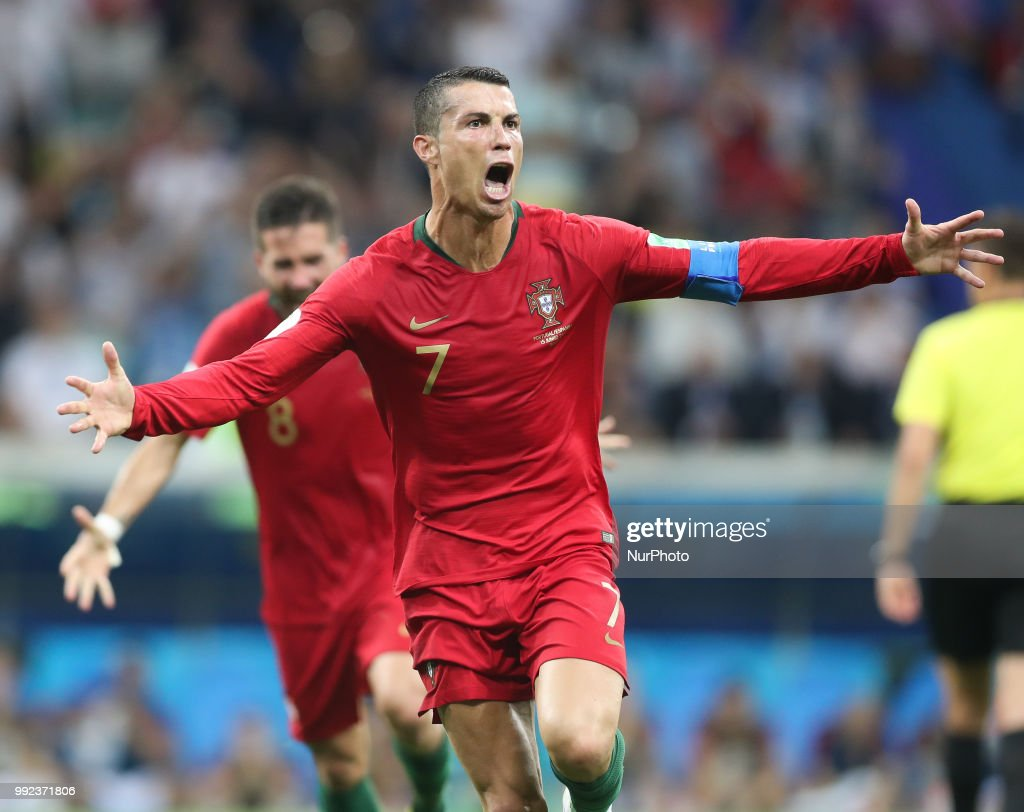 Cristiano Ronaldo during the 2018 FIFA World Cup Russia group B match between Portugal and Spain at Fisht Stadium on June 15, 2018 in Sochi, Russia.