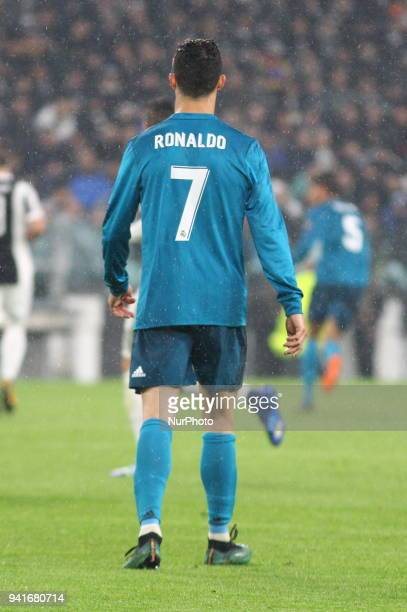 Cristiano Ronaldo during the first leg of the quarter finals of the UEFA Champions League 2017/18 between Juventus FC and Real Madrid CF at Allianz...