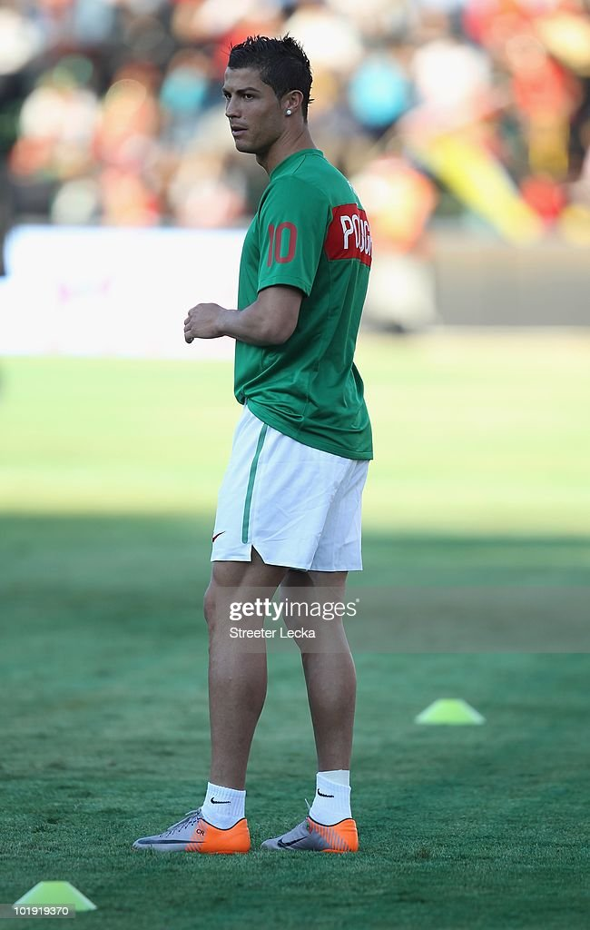 Cristiano Ronaldo during the international friendly match against Mozambique at Wanderers Stadium on June 8, 2010 in Johannesburg, South Africa.