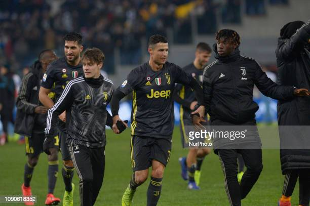 Cristiano Ronaldo during the Italian Serie A football match between SS Lazio and FC Juventus at the Olympic Stadium in Rome on january 27 2019