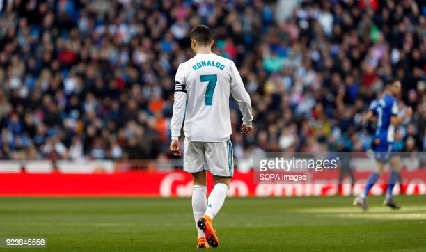 Cristiano Ronaldo during the La Liga match between Real Madrid and Deportivo Alavés SAD at Estadio Santiago Bernabéu