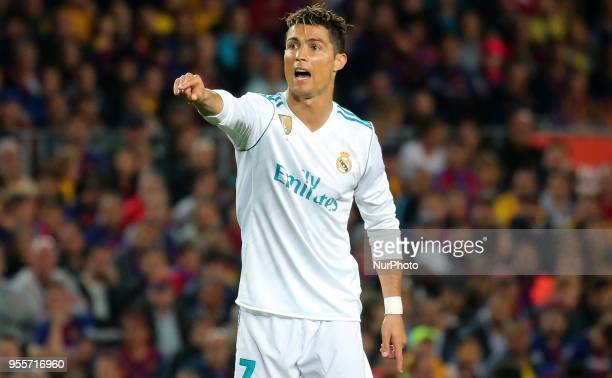 Cristiano Ronaldo during the match between FC Barcelona and Real Madrid CF played at the Camp Nou Stadium on 06th May 2018 in Barcelona Spain Photo...