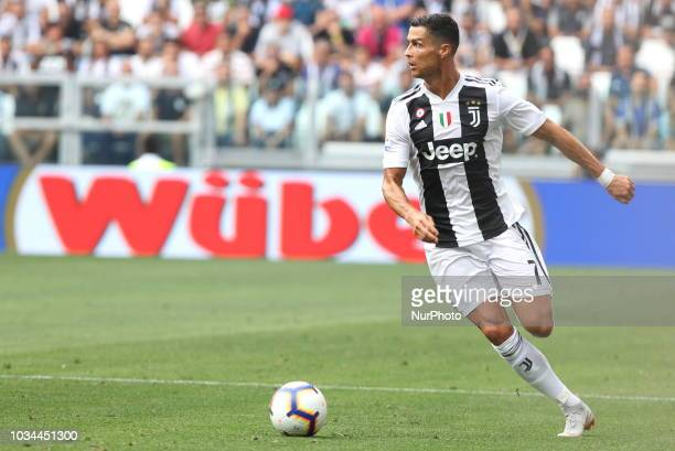 Cristiano Ronaldo during the Serie A football match between Juventus FC and US Sassuolo at Allianz Stadium on September 16 2018 in Turin Italy...