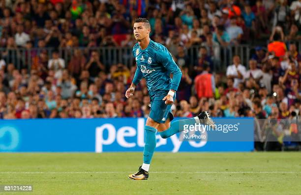 Cristiano Ronaldo during the spanish Super Cup match between FC Barcelona v Real Madrid in Barcelona on August 13 2017