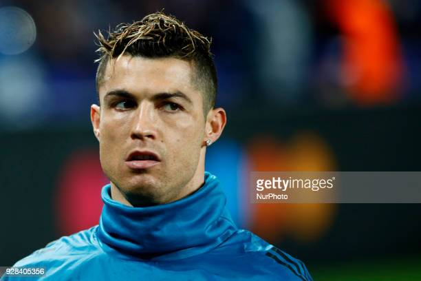 Cristiano Ronaldo during the UEFA Champions League football match Paris SaintGermain vs Real Madrid on March 6 2018 at the Parc des Princes stadium...