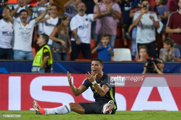 Cristiano Ronaldo during the UEFA Champions League group h match between Valencia CF and Juventus at Mestalla on September 19, 2018 in Valencia, Spain
