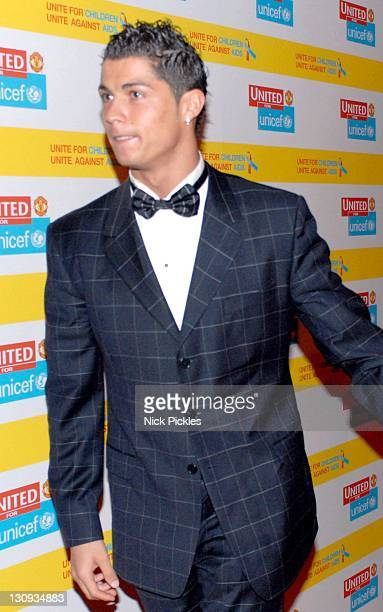 Cristiano Ronaldo during United for UNICEF Gala Dinner Arrivals at Old Trafford Manchester United Football Club in Manchester Great Britain