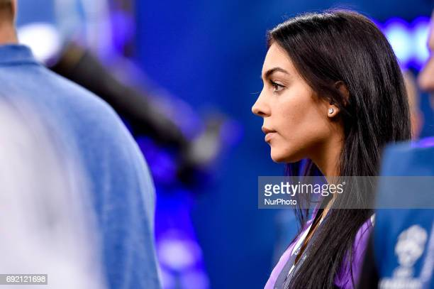 Cristiano Ronaldo fiance Georgina Rodriguez after the UEFA Champions League Final match between Real Madrid and Juventus at the National Stadium of...