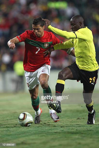 Cristiano Ronaldo in action against Mozambique during their game at Wanderers Stadium on June 8 2010 in Johannesburg South Africa