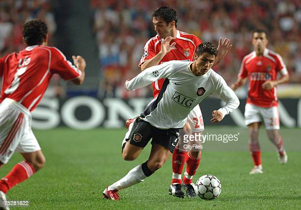Cristiano Ronaldo in action during the Uefa Champions League Group F Second round match Benfica vs Manchester United on September 26 2006 at Luz...