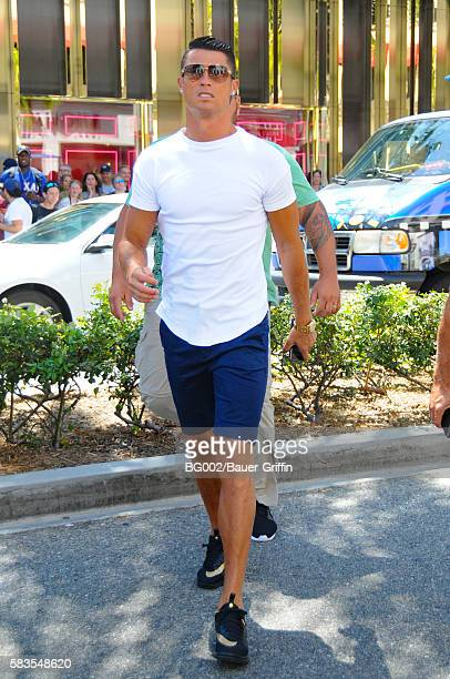 Cristiano Ronaldo is seen in Beverly Hills on July 26 2016 in Los Angeles California