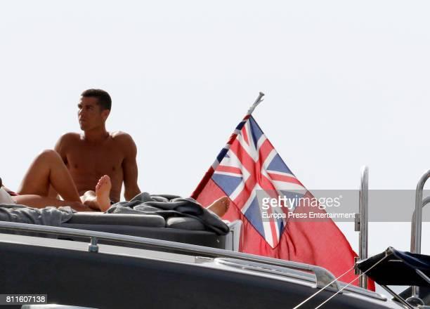 Cristiano Ronaldo is seen on July 8 2017 in Ibiza Spain