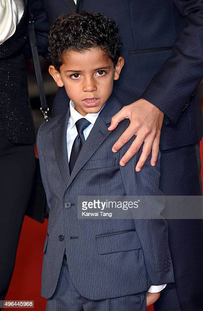 Cristiano Ronaldo Jnr attends the World Premiere of 'Ronaldo' at Vue West End on November 9 2015 in London England