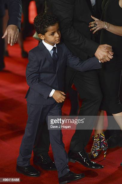 Cristiano Ronaldo Jr attends the World Premiere of 'Ronaldo' at Vue West End on November 9 2015 in London England