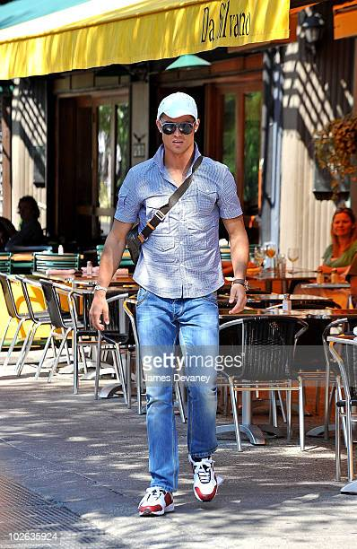 Cristiano Ronaldo leaves Da Silvano Restaurant after having lunch on July 5 2010 in New York City