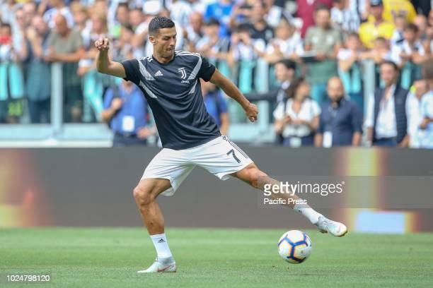 Cristiano Ronaldo of Juventus before the Serie A soccer match against Lazio
